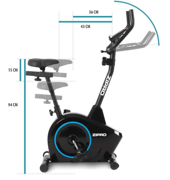 Велосипед магнитный Boost Zipro размеры